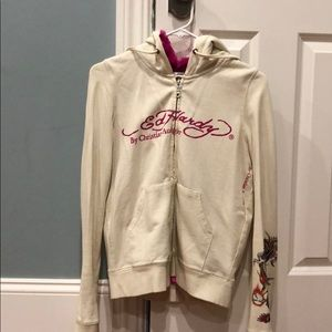 Ed Hardy Zip up hoodie